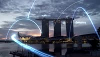 高科技信息城市互联网商务实拍视频素材