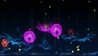 荷花蝴蝶飞舞萤火虫光点LED动态背景视频
