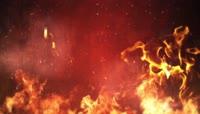 火焰中的龙凤燃烧舞台场景LED背景