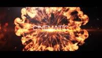 游戏电影宣传片预告片震撼冲击波火焰粒子3D文字片头AE模板