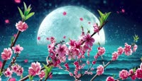 月亮桃花流星中秋晚会背景\(含音乐\)