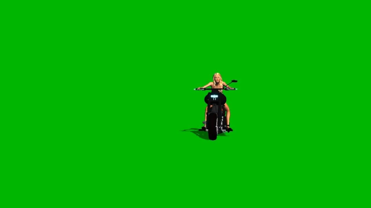 骑摩托女孩