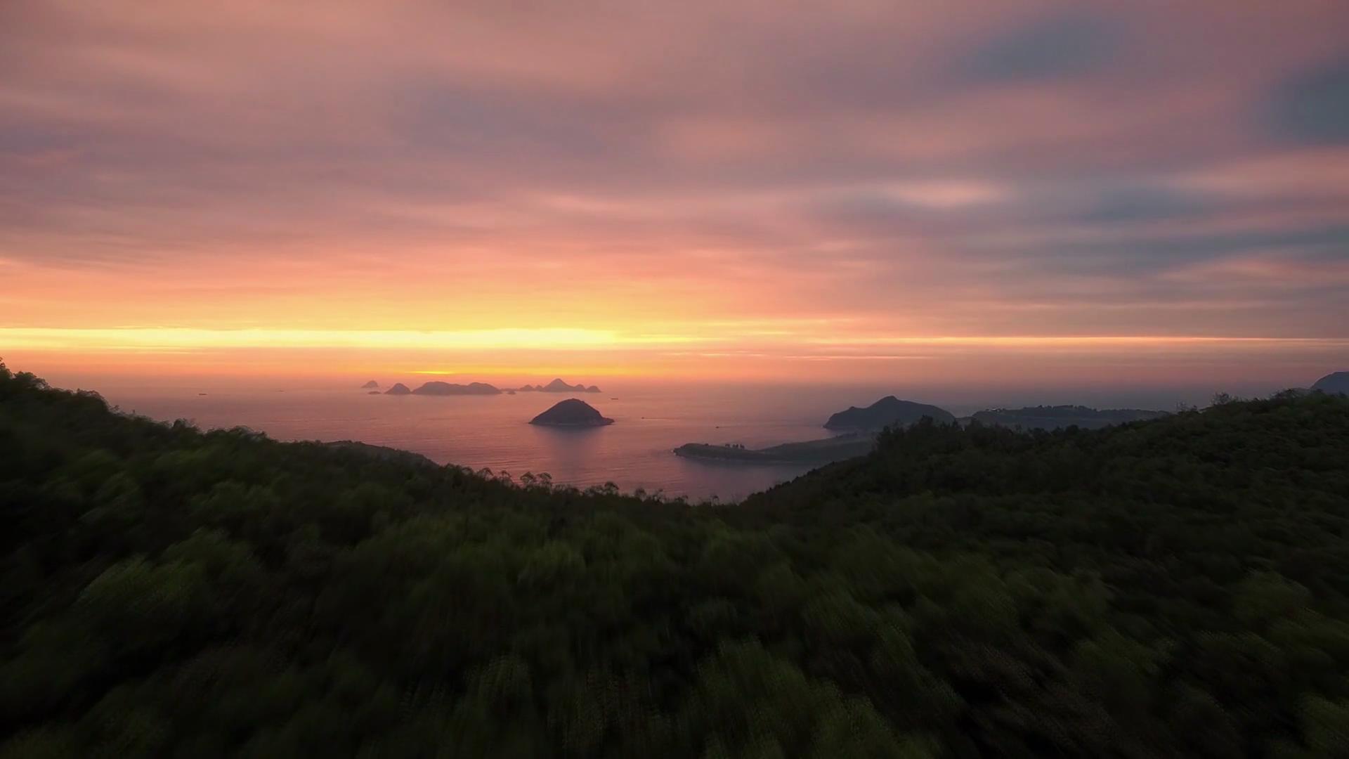 夕阳岛礁开场