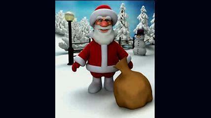 平安夜圣诞节圣诞老人祝福手机版高清视频素材
