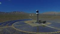 新能源太阳能发电板排列摆放吸收热能供电新技术高清视频航拍
