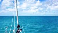迪拜棕榈岛的美丽海景