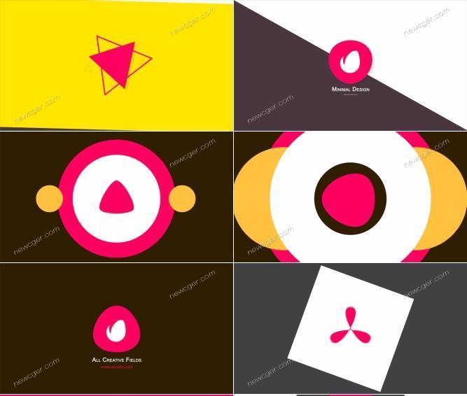 10款简洁风格LOGO演绎AE模板