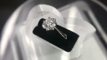 精美钻石戒指实拍视频