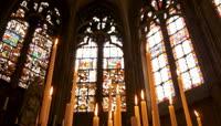 教堂彩色建筑玻璃