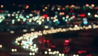 夜晚城市车流光斑