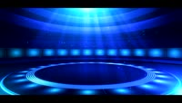 领奖颁奖舞台背景视频素材\-蓝色舞台