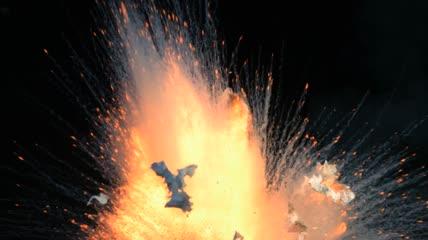 爆炸火焰烟雾