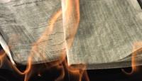 燃烧的报纸