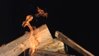 燃烧的木头