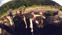 跳水游泳野外探险生活