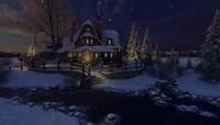 48圣诞节的美丽城堡