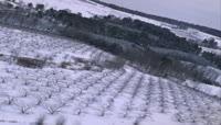 19航拍雪后的田地山川视频