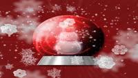47圣诞节雪花雪人素材视频片