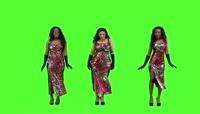 2、绿色背景美女舞蹈视频