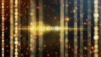 会声会影X8模板 华丽金色粒子光效颁奖典礼片头