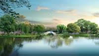 16高清4k小桥流水清新自然的大自然美景