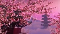 7高清4K唯美桃花仙境般的视频LED背景