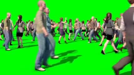 绿屏背景抠像素材