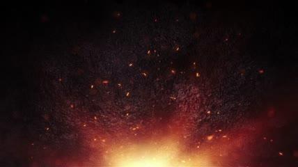 大气飞舞火星粒子影视特效视频素材