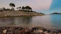 时光流逝 星空 湖泊 自然景观 太阳升起 延时摄影 海岛蓝天