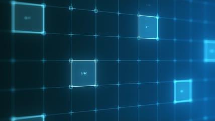 高科技类背景视频素材  信息分析或数据流数码产品 侧角度