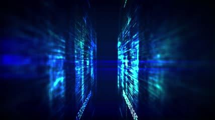 网络空间 互联网 计算机大数据矩阵技术网络展示