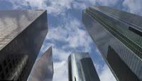 高楼 云彩 延时 光影变换 阳光穿透云彩 云彩涌动  延时镜头