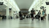 国际商务 机场 来往行人 飞机起飞