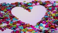 心型 爱心 动画 吹散爱心拼图