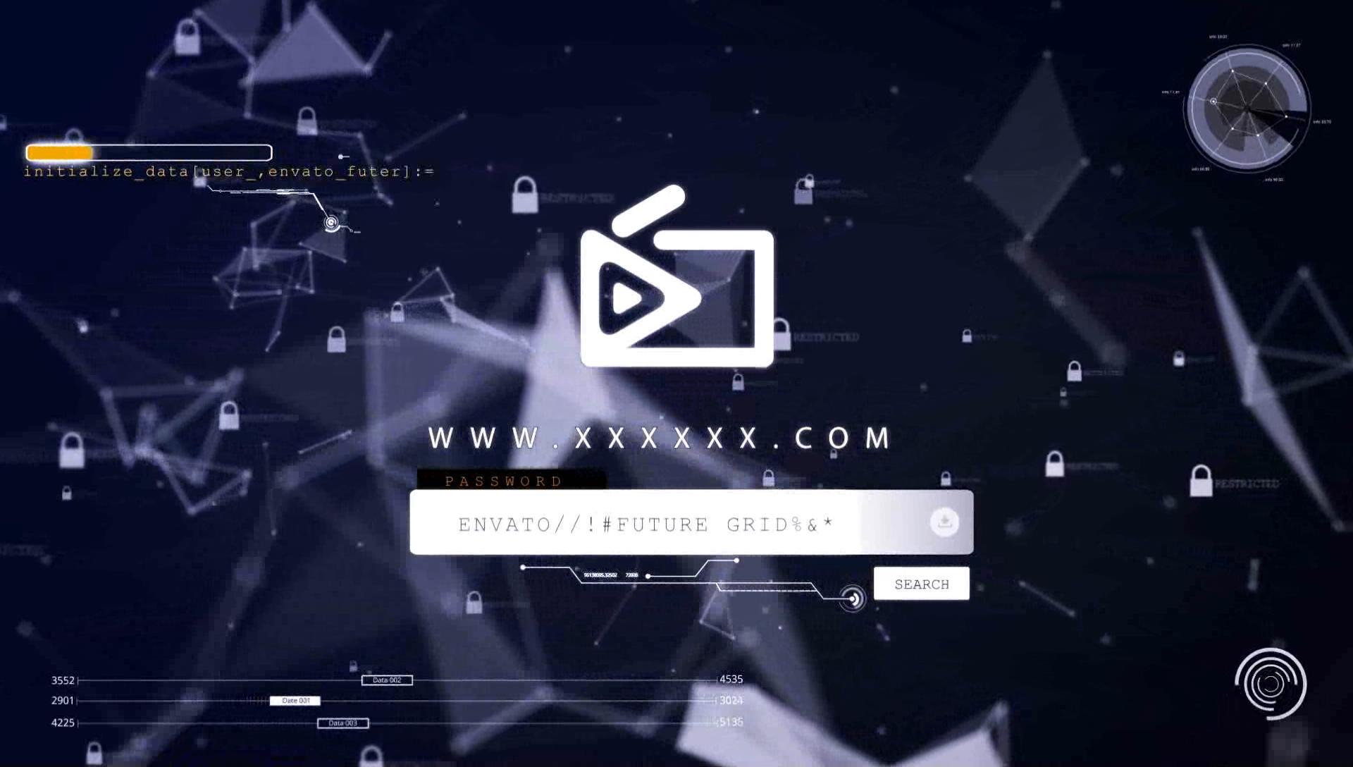 0008\-科技感 网络 安全 片头 动画
