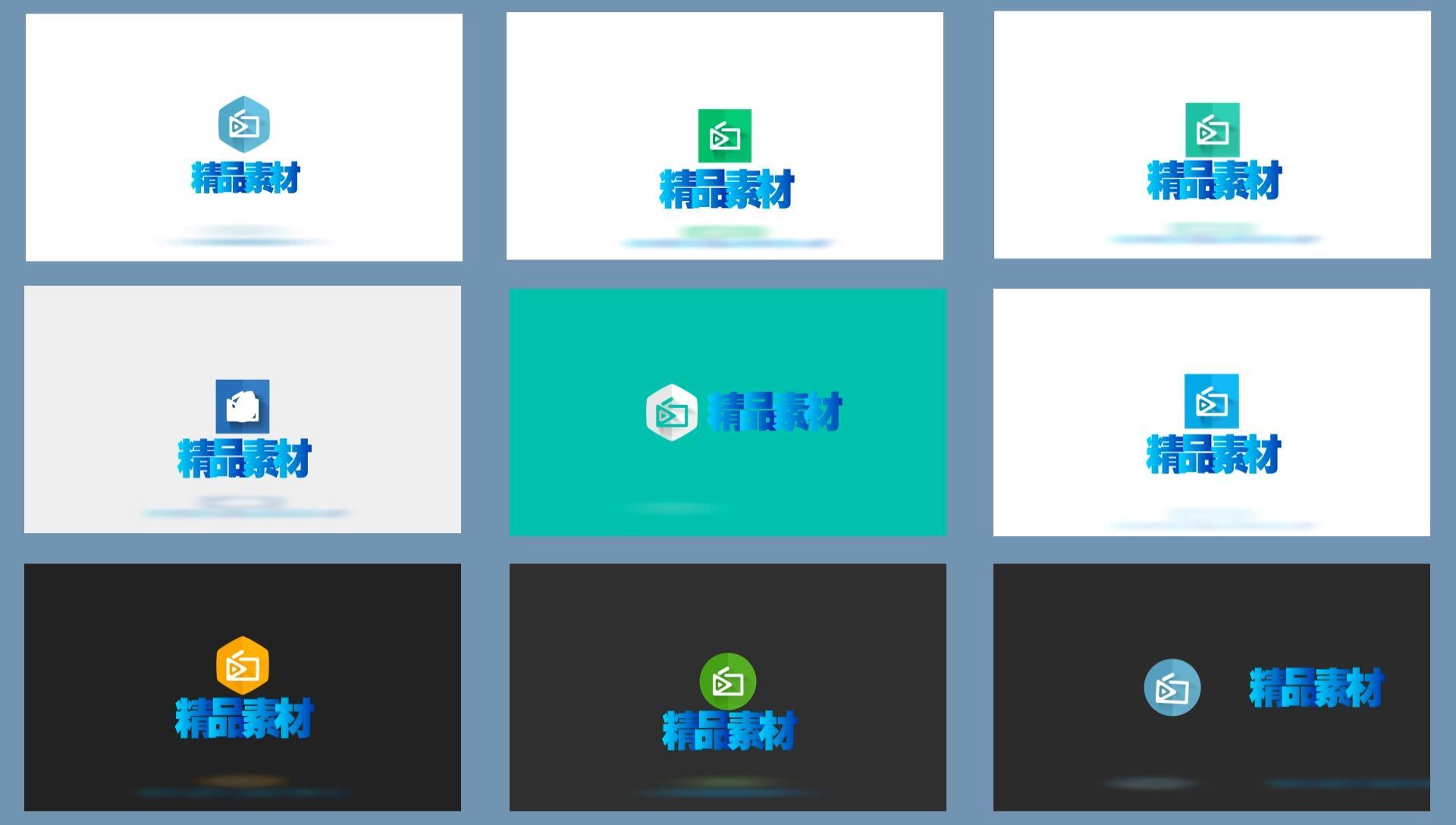 0014\-20组标志演绎动画包装工程4K分辨率LOGO片头效果