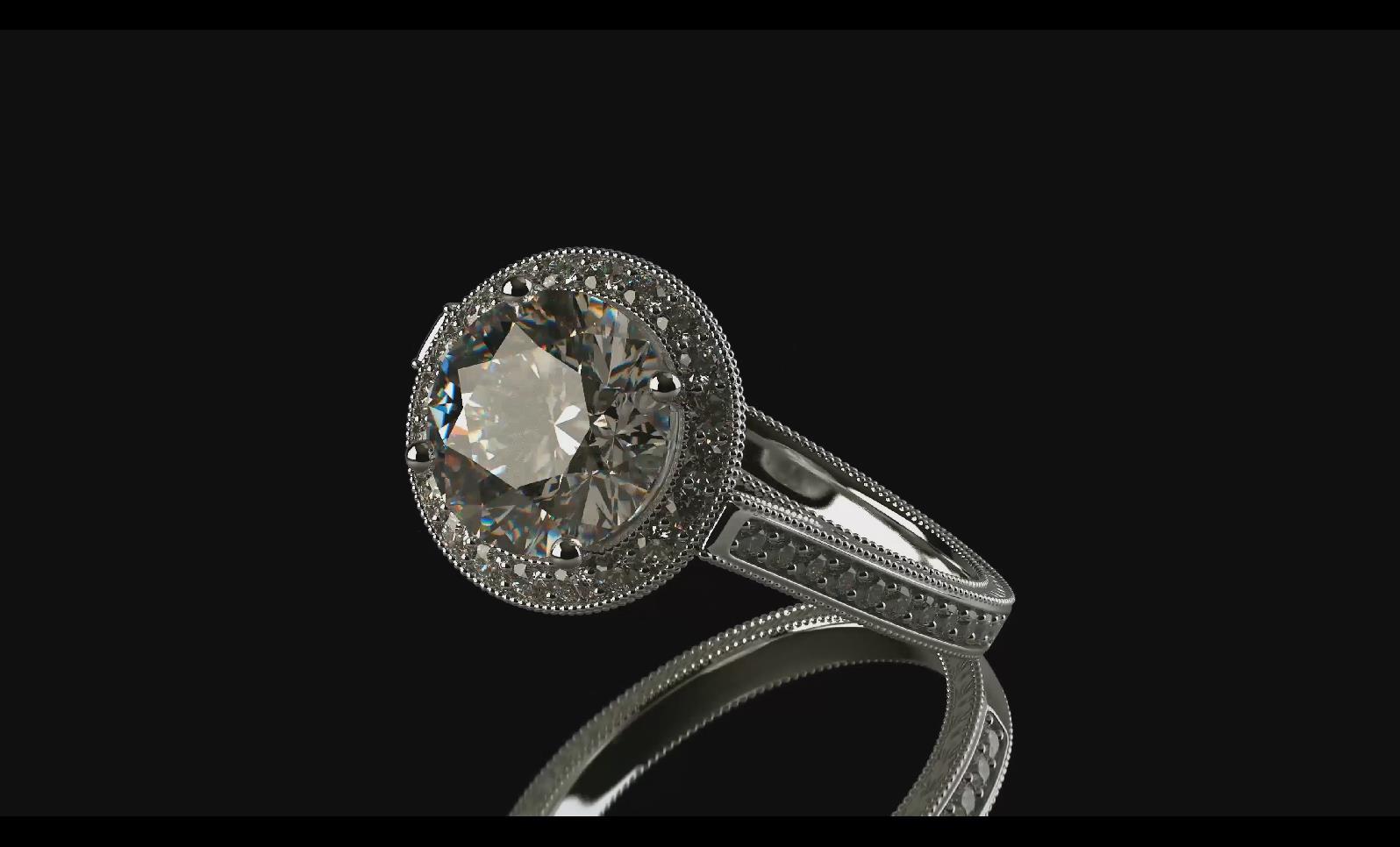 BS 086 BS 66 4K钻戒展示 珠宝工艺 珠宝设计 珠宝展示_4
