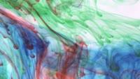 中国风水墨变化古典墨水进水混合效果