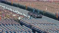 俄罗斯庆祝卫国战争胜利70周年阅兵 二战老兵 抗击法西斯 俄罗斯军队 检阅三军 普京讲话