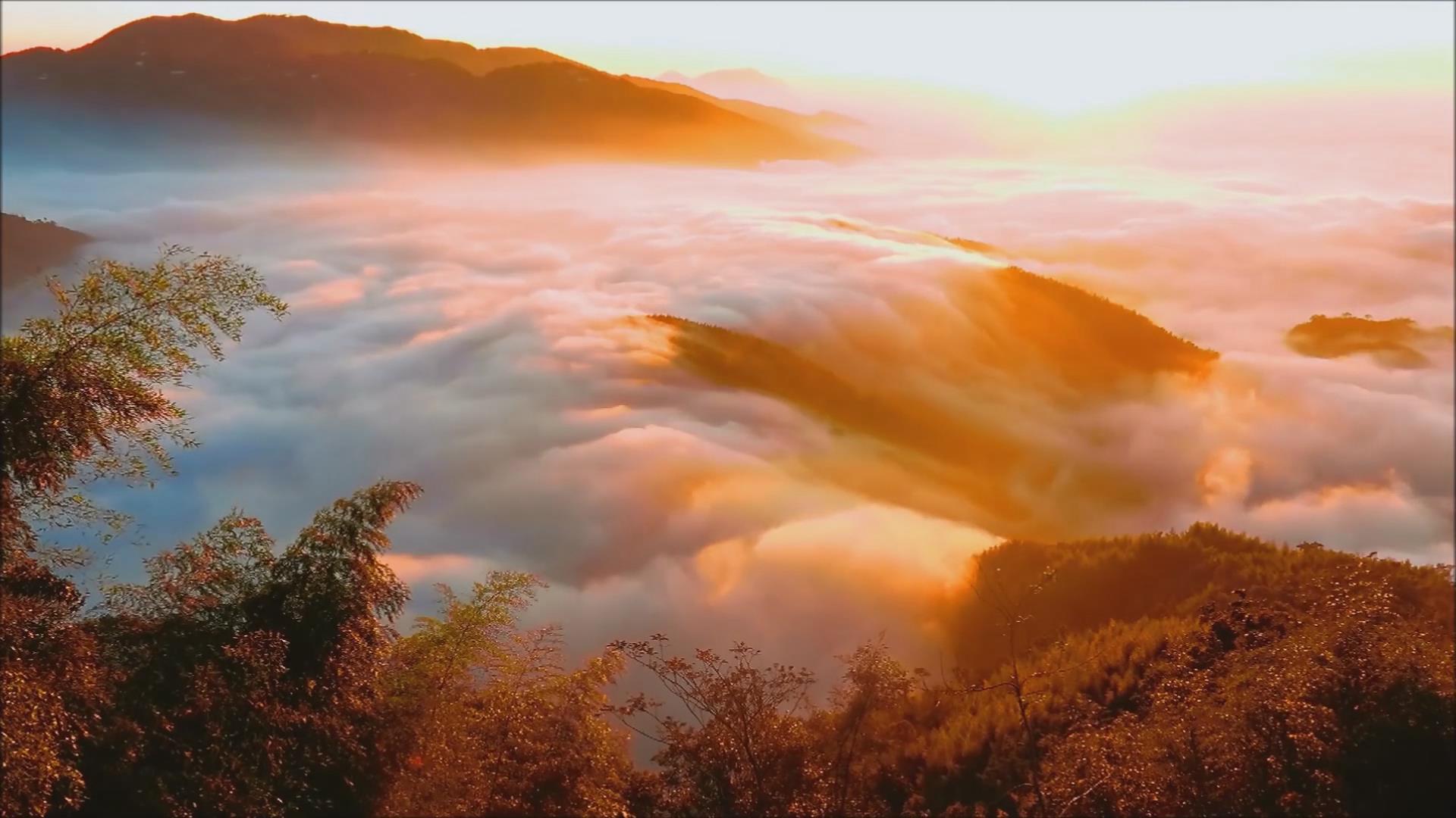 CS 76 云海瀑布   黃金雲瀑與彩雲瀑\-\-2017南投鹿谷大崙山雲海之美\-\-縮時攝影