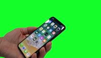 8、纯色背景的iPhoneX