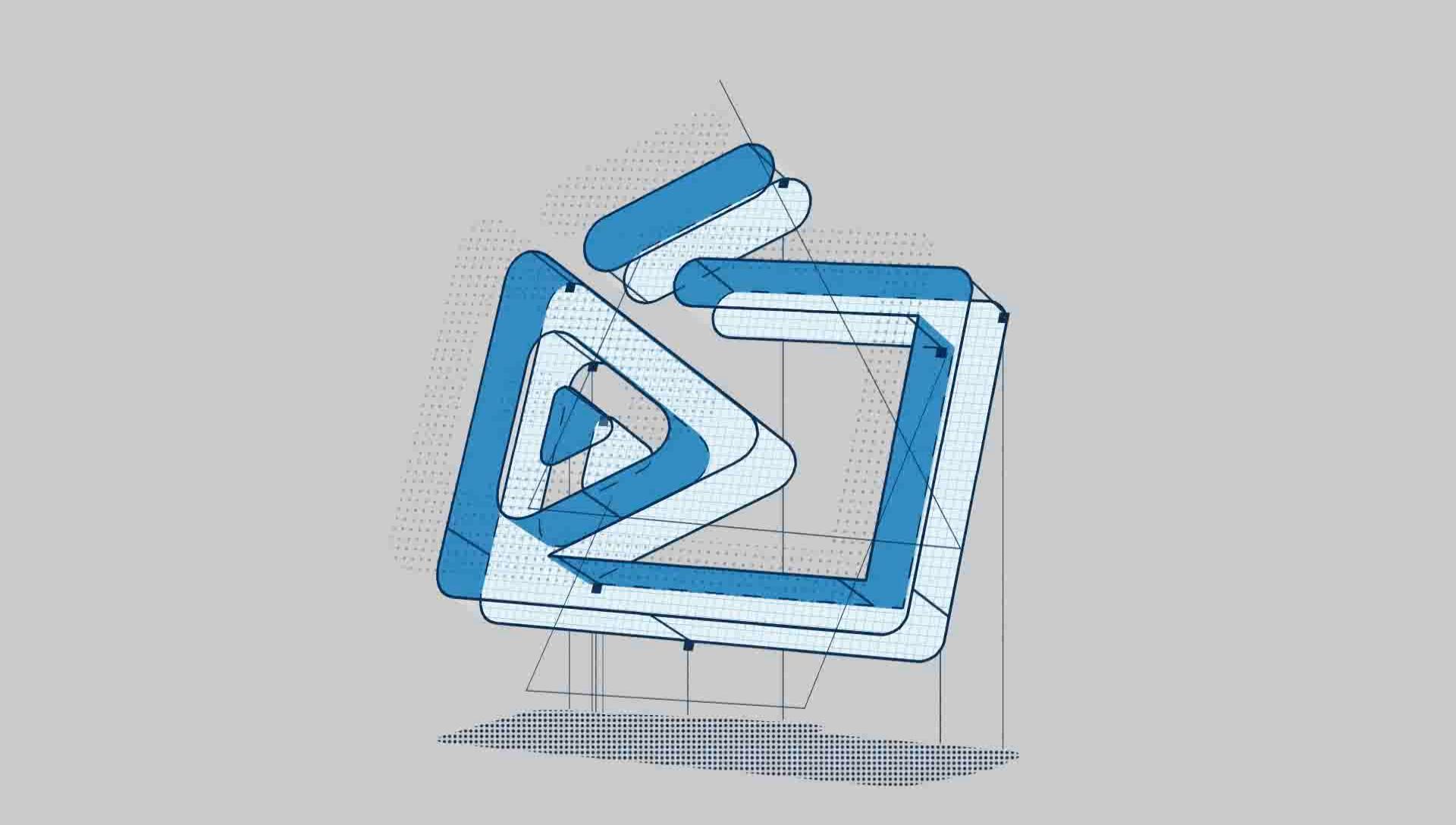0022\-3D卡通建筑素描大纲线文字LOGO动画片头AE模板