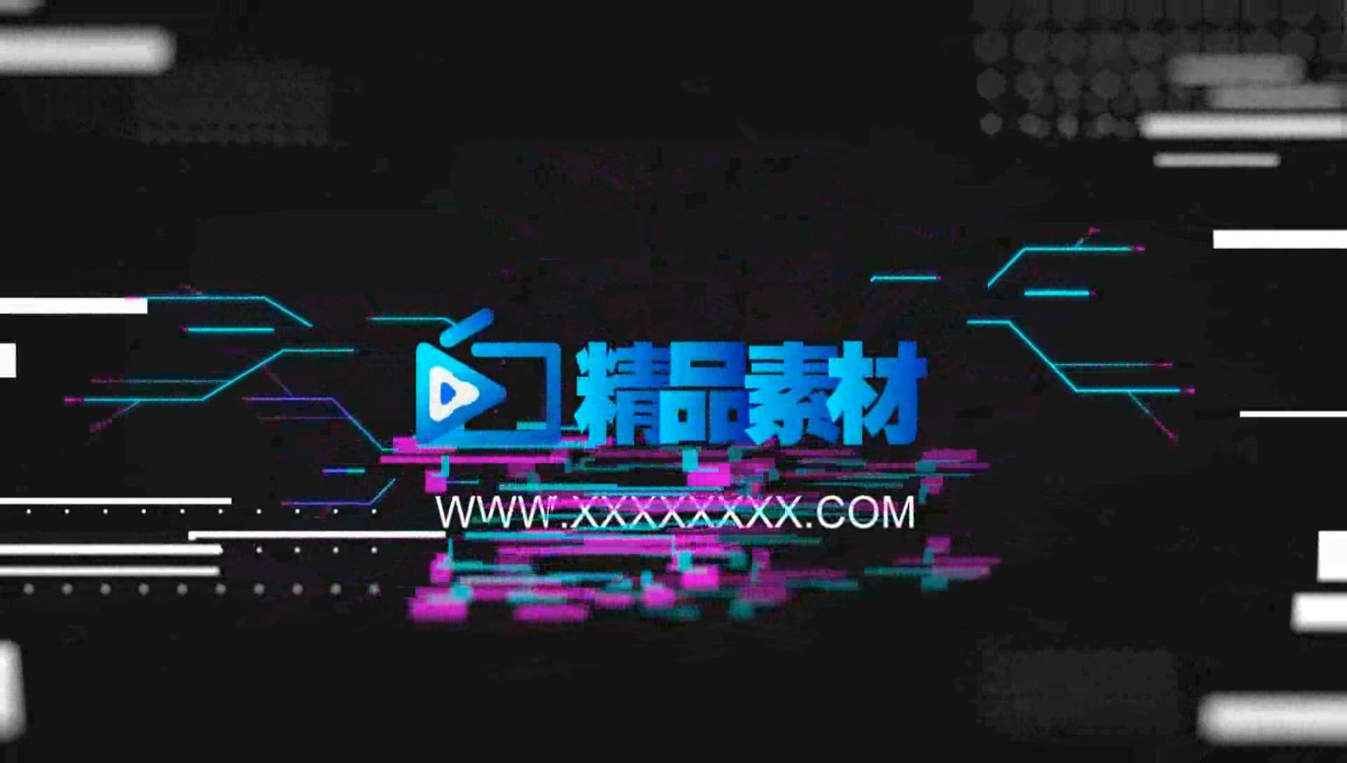 0021\-4K分辨率现代科技感彩色Glitch损坏信号特效LOGO动画AE模板