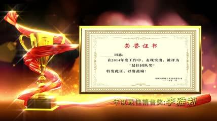 b10颁奖带照片ae模板带照片\.证书