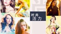 0024\-多照片效果演绎LOGO片头社交网络微博企业商业生态标志动画AE模板