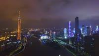 33、航拍 广州夜景