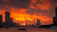 46上海日出縮時攝影 Shang Hai Sun Rise Timelapse