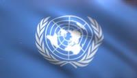 联合国挥舞着旗帜的动画