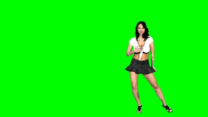 Sexy girls dancing \- Green screen \- 12 \(ARCHIVE\)