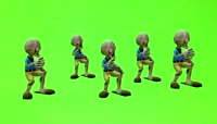 3、Green Screen dancing zombies 2